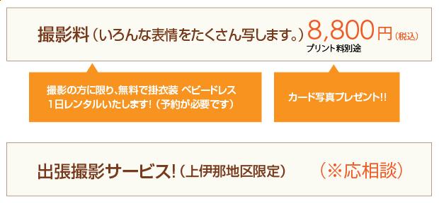 撮影料8,800円